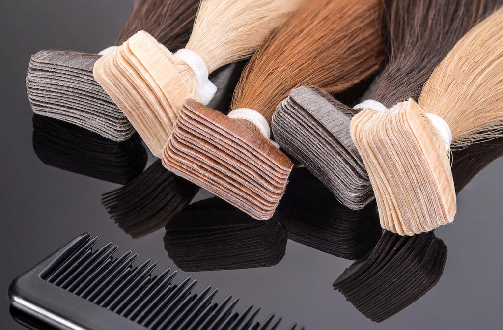allungamento capelli con clip