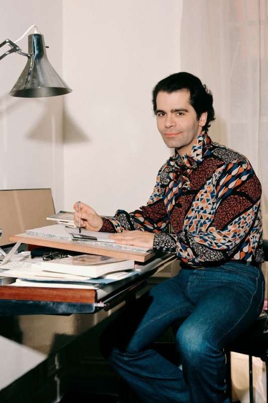 Karl Lagerfeld da giovane